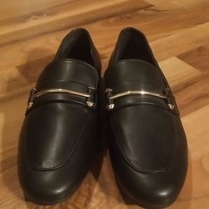 Steve Madden Black & Gold Size 10 M Loafers